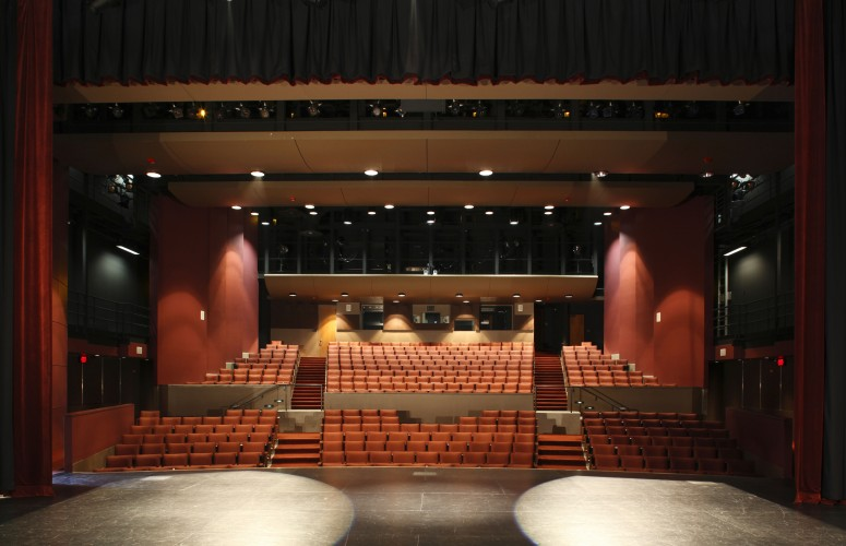 Thorburn Associates - DeAnza Performing Arts Theater Stage View into crowd