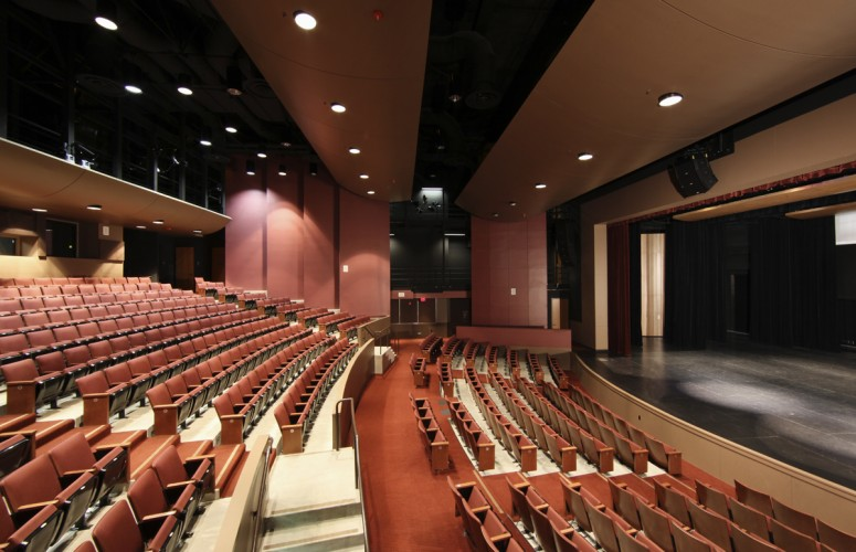 Thorburn Associates - DeAnza Performing Arts Theater Side View