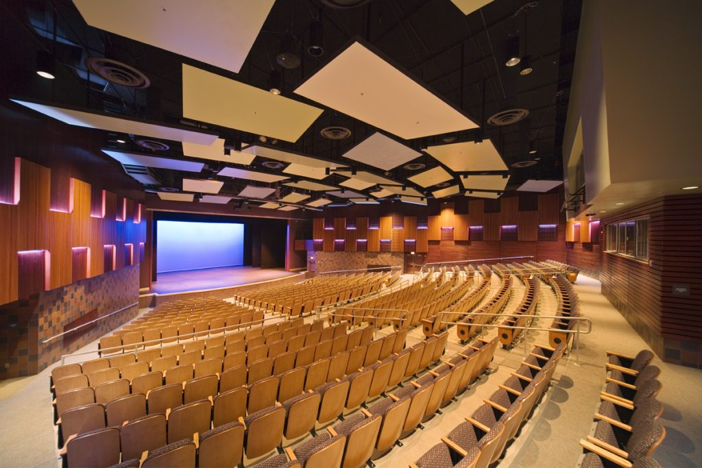 Bartlett High School Theater project. Shot for Kumin Architects, Inc. Kumin and Bartlett High School have unlimited usage rights, no third party rights granted.